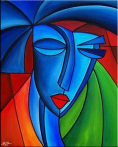 Art 'Equality - C - by Thomas C. Fedro from Cubist Art Connection, Cubist Art, Dancing Drawings, Abstract Face Art, Artist Portfolio, Arte Pop, African Art, African Women, Sculpture Art
