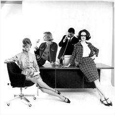Jean Shrimpton, Tania Mallet and Grace Coddington by David Bailey (1962)