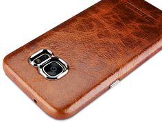 iCarer Samsung Galaxy S7 Oil Wax Back Cover Series Genuine Leather Case