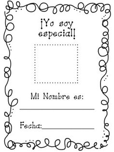 All about me spanish book - Yo soy especial