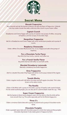 Starbuck's secret menu!