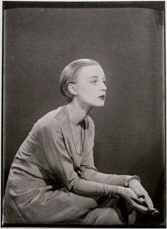 "black-celluloid: "" Man Ray Portrait of artist Karin Van Leyden Paris, c.1929 Also just look at that fabulous haircut… timeless. """