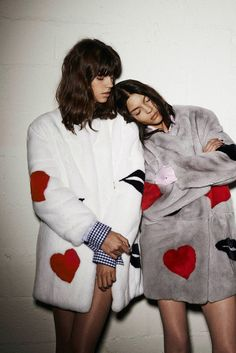 Antonina Petkovic and Kate Bogucharskaia for MSGM Fall Winter 2014.15
