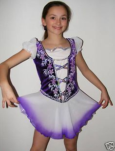 Competition Ice/Figure skating dress/Twirling/Irish Made to Fit Purple or Green | eBay