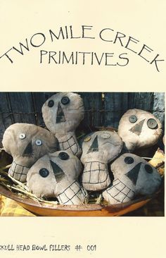 Primitive Folkart Halloween Skulls Pattern E PATTERN on Etsy, $5.00