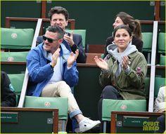 Leonardo DiCaprio & Luke Evans Hit Up French Open!
