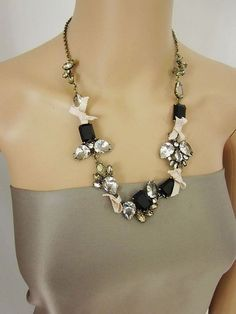 Fashion  Crystal Necklace with Black Gemstone for Women DC65N951 $16.25