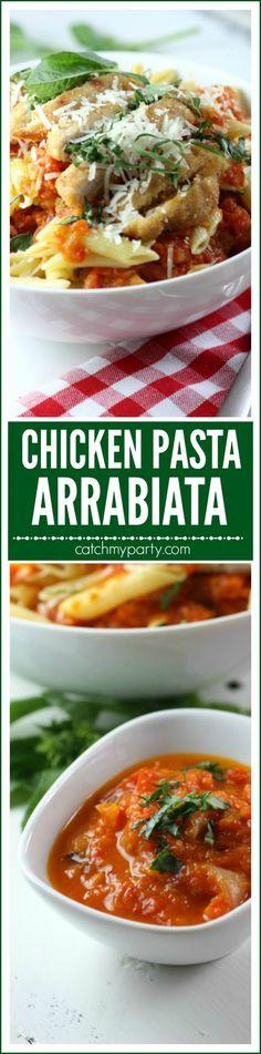 pasta arrabiata with chicken recipe catchmyparty com