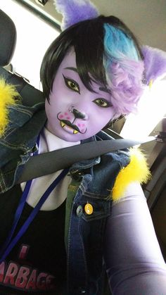 Catty Cosplay MomoCon 2016 by JunjouJenny (makeup insp) Amazing Cosplay, Best Cosplay, Undertale Clothes, Sans Cosplay, Halloween Party, Halloween Costumes, Undertale Cosplay, Costume Ideas, Cosplay Ideas