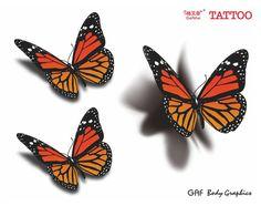 Bildergebnis für tattoo butterfly 3d