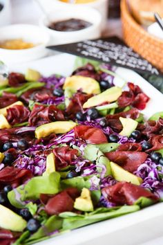 Don't get bored with your salad choices. Try adding some of these healthy and delicious ingredients to make a new salad every day. Macaroni Salad, Salad Ingredients, Tasting Room, Eat Smarter, Coleslaw, Cobb Salad, Acai Bowl, Salad Recipes, Catering