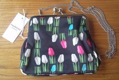 Ivana Helsinki Finland Clutch Bag Shoulder Bag Tulip Tulppaani  Multicolored NWT #IvanaHelsinki #Clutch