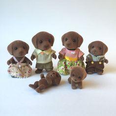 Sylvanian Families Hunter-Smyth Chocolate Labrador Dog Family Retired Figures   eBay