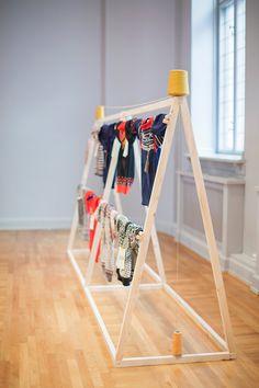 Byggstudio. Inventive clothing display.
