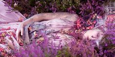 """""""Gammelyn's Daughter a Waking Dream"""" image from """"Wonderland"""" by photographer Kirsty Mitchell and makeup artist Elbie Van Eeden Surrealism Photography, Fine Art Photography, Portrait Photography, Fashion Photography, Fantasy Photography, Magical Photography, Creative Photography, Feminine Photography, Whimsical Photography"""