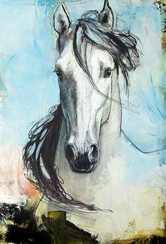 toile de Léa Rivière - Léa Rivière's painting  .©Léa Rivière toute reproduction interdite/ #art #horse #chevaux #painting #equineart #drawing #dessin #artcontemporain #artistLéaRivière