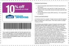 10% off via Lowe's Movers Program (CLICK for instructions)