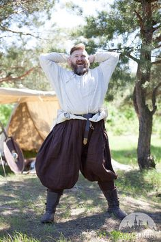 DISCOUNTED PRICE! Linen Viking Pants; Men's Viking Pants; Linen Pants; Medieval Pants