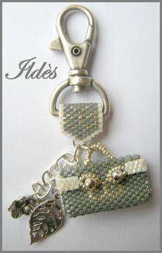 Keychain gray hand bag