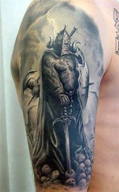 knight tattoos | knight tattoo tattooed by fun at the tattoo 3000 moscow www tattoo3000 ...