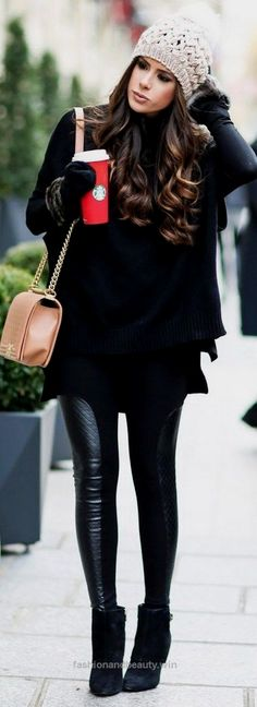 Look Over This Winter Style // A gorgeous all-black winter outfit idea. The post Winter Style // A gorgeous all-black winter outfit idea…. appeared first on Fashion .