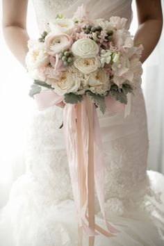 wedding gown, wedding bouquet, white gown, wedding