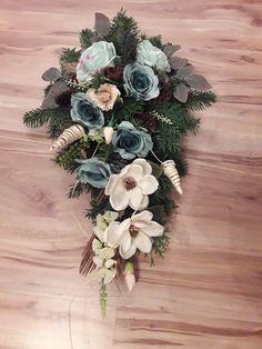 Funeral Sprays, Funeral Flowers, Flower Designs, Floral Wreath, Wreaths, Beautiful, Home Decor, Craft, Hand Art