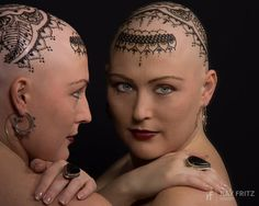 """""""Henna Heals"""" in Canada creating #henna crowns for Cancer Patients."""