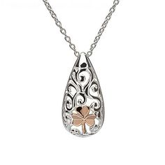 Silver Celtic Shamrock Pendant | Irish Jewelry
