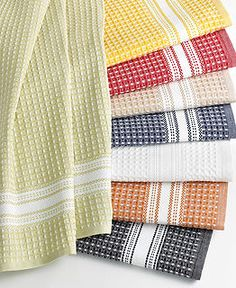 Buy Home Products from Martha Stewart Collection at Macy's! Shop a wide selection of Martha Stewart bedding, bath, furniture and Martha Stewart home decor. Weaving Designs, Weaving Projects, Weaving Patterns, Martha Stewart Kitchen, Kitchen Collection, Dish Towels, Tea Towels, Weaving Techniques, Kitchen Towels