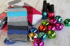 Fun socks and nail polish in a bag make a great gift! You can modify and do flip flops (Old navy 2for$5) and polish for summer!