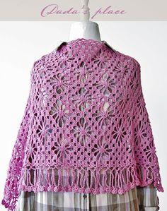 Dada's place: Japanese Lacy Crochet Shawl