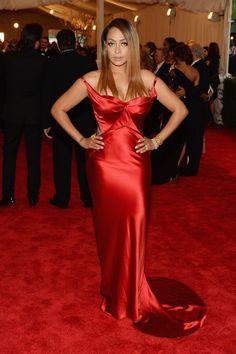 Todas las fotos de celebrities y de alfombra roja de la gala del MET 2013: La La Anthony