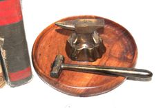 Antique Anvil and Hammer Nut Cracker Walnut by AntiqueAlchemyShop, $90.00