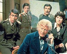 Jon Pertwee's Dr Who, Sarah Jane, Brigadier Leithbridge-Stewert, Captain Yates and Sargent Benson. In fact, all the gang ...