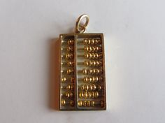 14k Gold Chinese Abacus Charm/Pendant 2.76g by GoldnBeads on Etsy