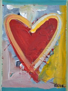 Lifted Up Heart A Small Heart Painting Heart Painting, Love Painting, Small Paintings, Beautiful Paintings, Auction Ideas, Red Hearts, Small Heart, Heart Art, Love Art