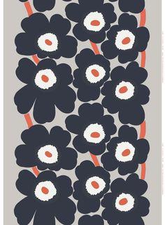 Unikko cotton-linen fabric by Marimekko