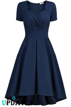 online shopping for AISIZE Women Vintage Sweetheart Wrap Party Swing Dress from top store. See new offer for AISIZE Women Vintage Sweetheart Wrap Party Swing Dress Stylish Dresses, Elegant Dresses, Pretty Dresses, Vintage Dresses, Casual Dresses, Women's Casual, Women's Dresses, African Fashion Dresses, African Dress