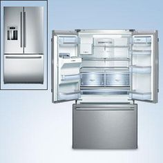 Buying a Bosch French Door Fridge from Winning Appliances is an investment in quality. We stock only the best appliances from the world's finest brands, trusted for reliable, efficient and convenient service. Laundry Appliances, Best Appliances, Small Appliances, Bottom Freezer Refrigerator, French Door Refrigerator, Home Furnishing Stores, Stainless Steel Refrigerator, Door Storage, Glass Shelves