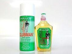 PINAUD CLUBMAN SHAVE CREAM ALOE VERA SHAVING cream & AFTER SHAVE LOTION 12/6OZ