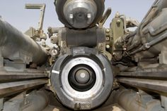 The barrel of a 155mm Howitzer