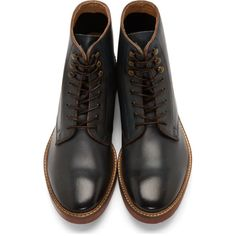 H by Hudson Deep Teal Leather McAllister Boots