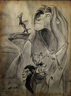 The Lion King by Philip Deg Disney Drawings, Cartoon Drawings, Animal Drawings, Pencil Drawings, Art Drawings, Le Roi Lion Disney, Art Disney, Disney Lion King, Lion King Drawings