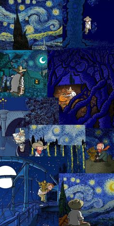 Van Gogh Wallpaper, Hippie Wallpaper, Mood Wallpaper, Iphone Wallpaper Tumblr Aesthetic, Painting Wallpaper, Retro Wallpaper, Aesthetic Pastel Wallpaper, Scenery Wallpaper, Wallpaper Iphone Cute