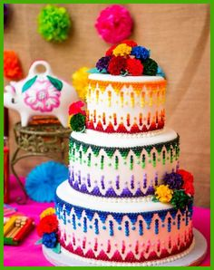 Cinco de Mayo Mexican Fiesta Cake by Just Cakin' It