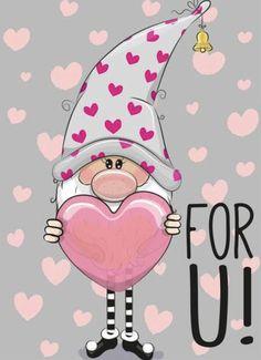 Cartoon Mignon, Cute Bunny Cartoon, Cartoon Trees, Illustration Noel, Simple Cartoon, Christmas Gnome, Christmas Cards, Diy Scrapbook, Cute Drawings