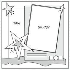 Scrapbook Page Sketch 279