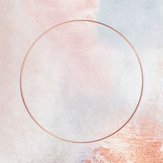 Download premium vector of Round copper frame on pastel background vector