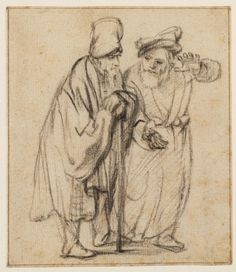 Rembrandt Two Jews in Discussion, Walking - Rembrandt - Wikipedia Rembrandt Etchings, Rembrandt Drawings, Rembrandt Paintings, Ink Pen Drawings, Drawing Sketches, Sketching, Leiden, Paul Klee Art, Great Works Of Art